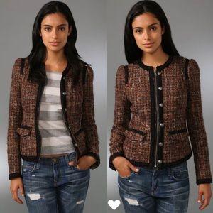 Free People Coco Tweed Blazer Jacket 0
